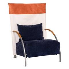 Ligne Roset Habitus Fabric Armchair Blue Cream