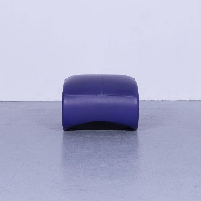 Ligne Roset Leather Armchair Violet One-Seat Swing-Chair 9