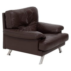 Ligne Roset Melodie Brown Leather Armchair