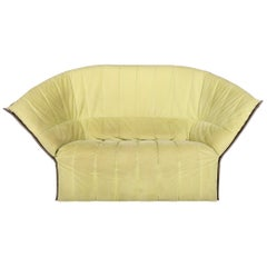 Ligne Roset Moël Fabric Sofa Lime Green Two-Seat Couch