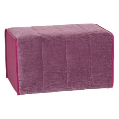 Ligne Roset MOËL Fabric Stool Purple Ottoman