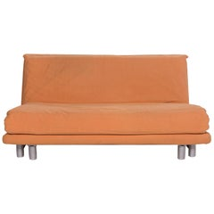 Ligne Roset Multi Fabric Sofa Terracotta Two-Seat Sofa Bed Sleep Function