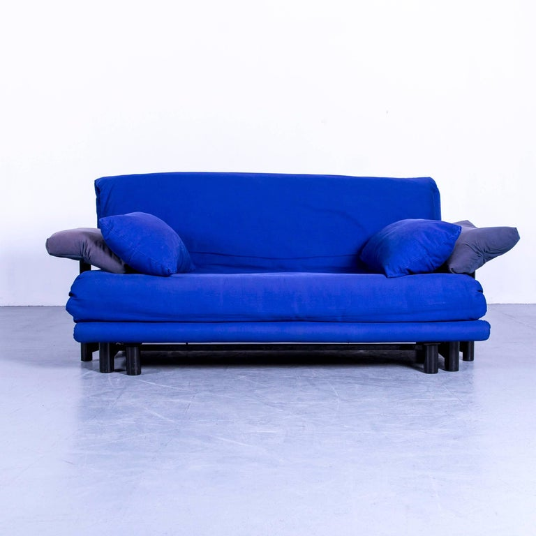 Ligne Roset Multy ligne roset multy fabric sofa blue two seat rest