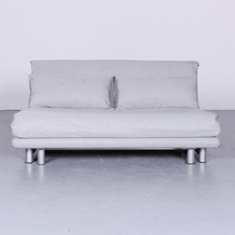 Ligne Roset Multy Fabric Sofa Bed Grey Two Seat Couch Sleep Function