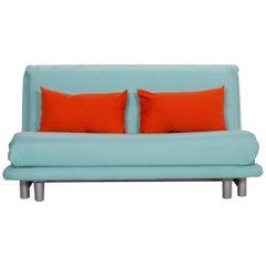 Ligne Roset Multy Fabric Sofa Blue Three-Seat Sleeping Function