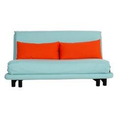 Ligne Roset Multy Fabric Sofa Blue Three-Seater Sleeping Function New Cover
