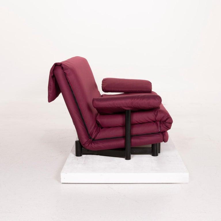 Ligne Roset Multy Fabric Sofa Purple Three-Seat Sleeping Function 4