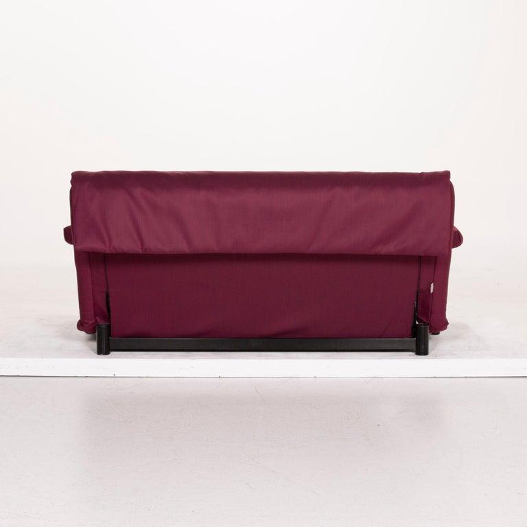 Ligne Roset Multy Fabric Sofa Purple Three-Seat Sleeping Function 5