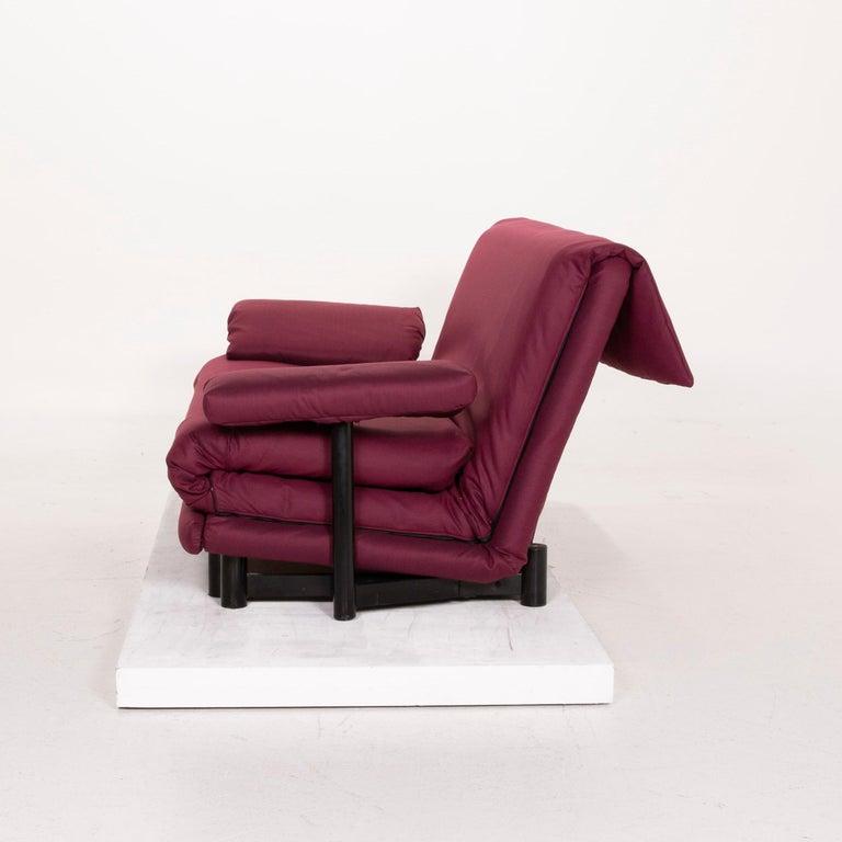 Ligne Roset Multy Fabric Sofa Purple Three-Seat Sleeping Function 6