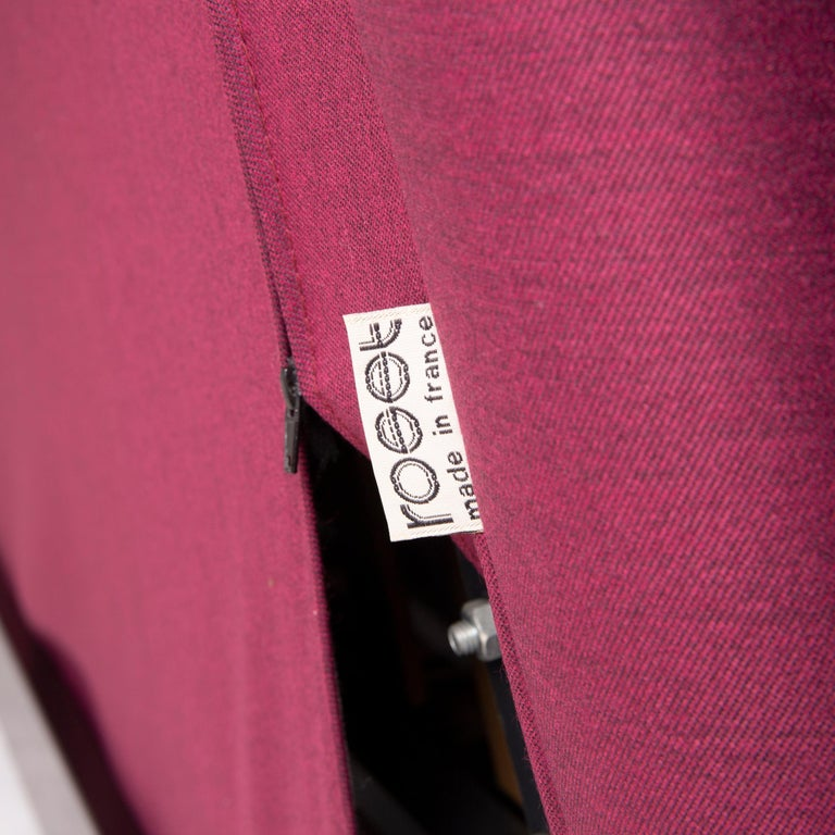 Ligne Roset Multy Fabric Sofa Purple Three-Seat Sleeping Function In Excellent Condition In Cologne, DE