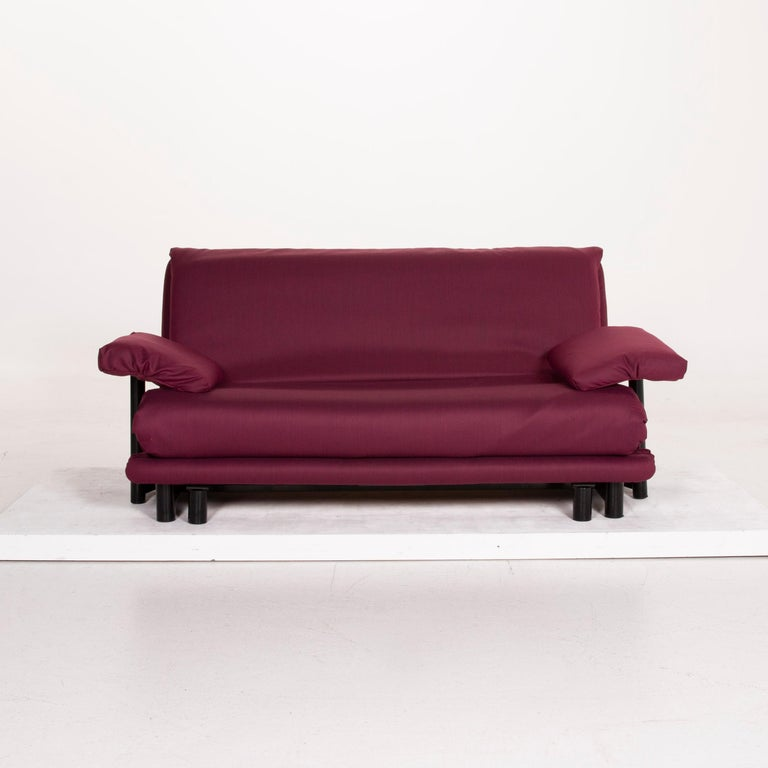 Contemporary Ligne Roset Multy Fabric Sofa Purple Three-Seat Sleeping Function