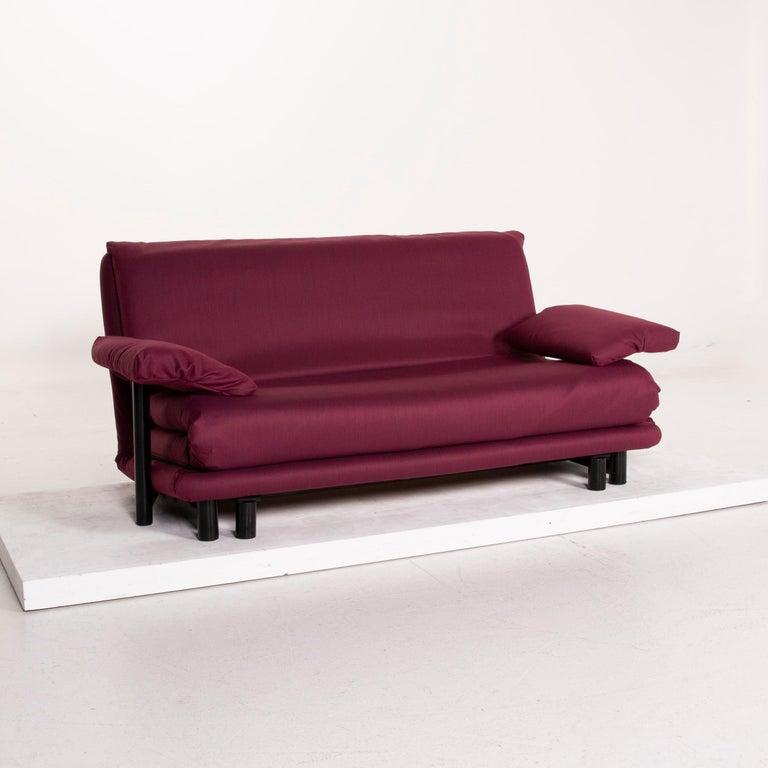 Ligne Roset Multy Fabric Sofa Purple Three-Seat Sleeping Function 1