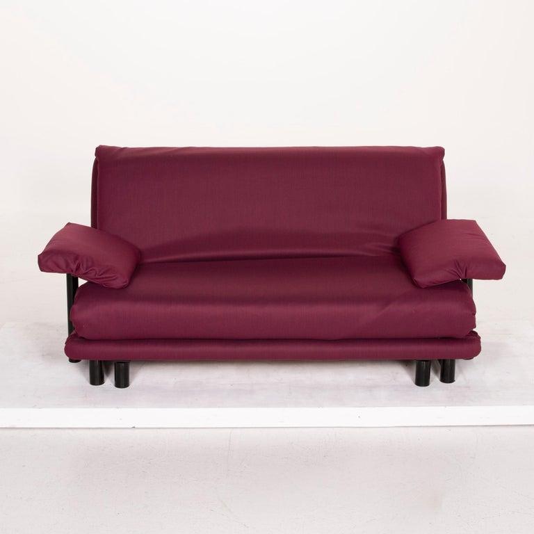 Ligne Roset Multy Fabric Sofa Purple Three-Seat Sleeping Function 3