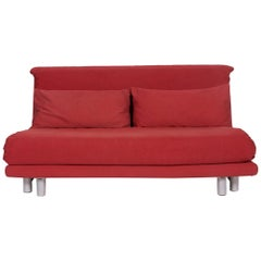 Ligne Roset Multy Fabric Sofa Red Two-Seat Sleeping Function