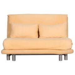 Ligne Roset Multy Fabric Sofa Yellow Two-Seat 1.5-Seat Sleep Function