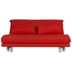 Ligne Roset Multy Stoff Sofa Rot Schlafsofa Schlaffunktion Funktion Couch