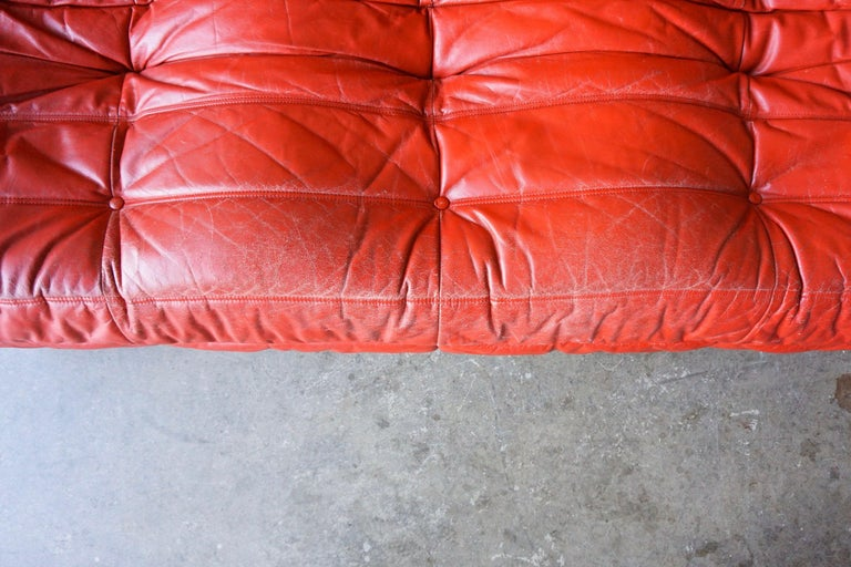 Late 20th Century Ligne Roset Original Leather 'Togo' Sofa For Sale