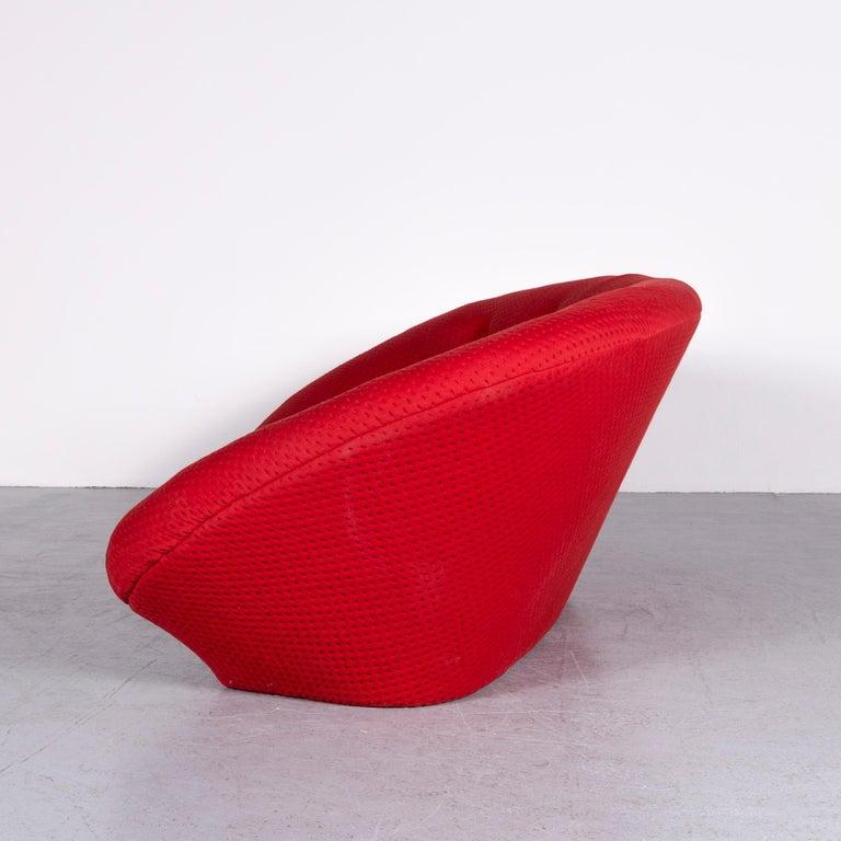 Ligne Roset Ploum Designer Fabric Sofa Red by Erwan & Ronan Bouroullec 5