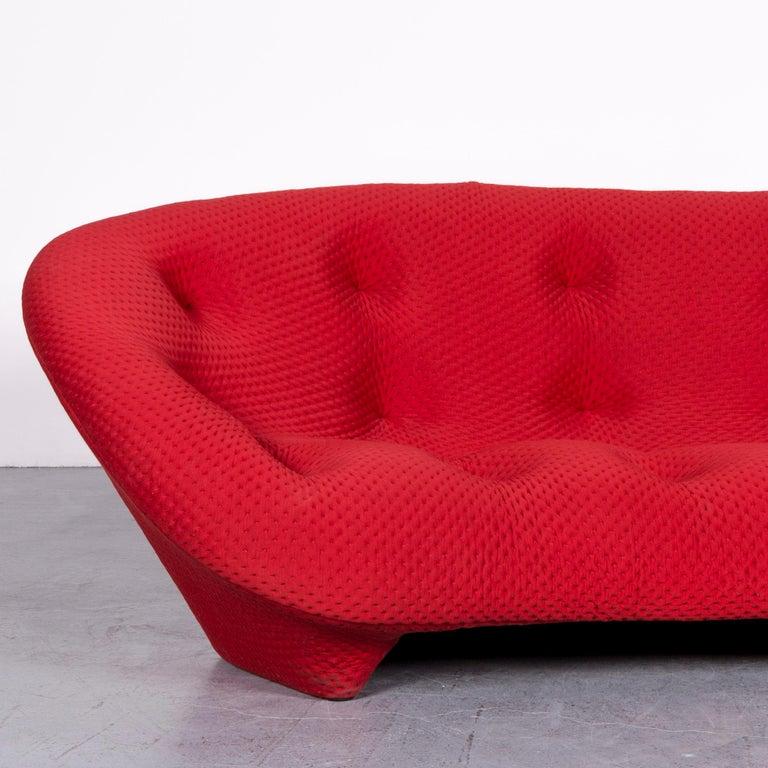 Ligne Roset Ploum Designer Fabric Sofa Red by Erwan & Ronan Bouroullec In Good Condition In Cologne, DE