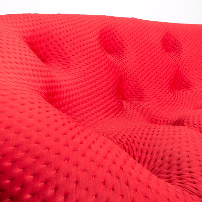 Ligne Roset Ploum Designer Fabric Sofa Red by Erwan & Ronan Bouroullec 1