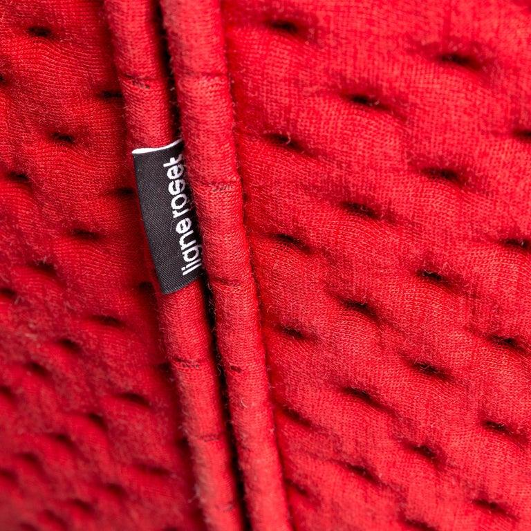 Ligne Roset Ploum Designer Fabric Sofa Red by Erwan & Ronan Bouroullec 2