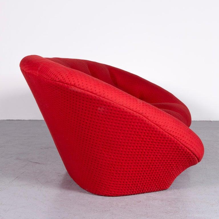 Ligne Roset Ploum Designer Fabric Sofa Red by Erwan & Ronan Bouroullec 3