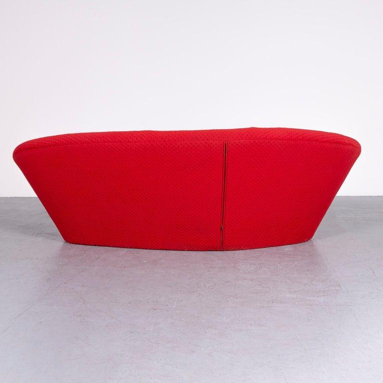 Ligne Roset Ploum Designer Fabric Sofa Red by Erwan & Ronan Bouroullec 4