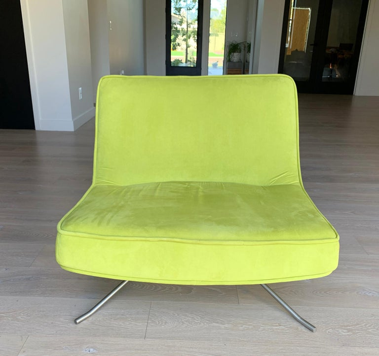 Modern Ligne Roset Pop Chair and Ottoman by Christian Werner For Sale
