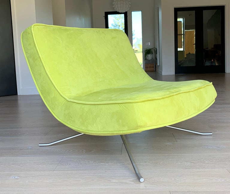 Ligne Roset Pop Chair and Ottoman by Christian Werner In Good Condition For Sale In Las Vegas, NV