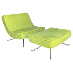 Ligne Roset Pop Chair and Ottoman by Christian Werner