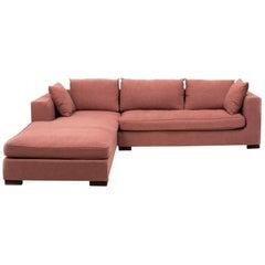 Ligne Roset Rive Gauche Corner Sofa by Didier Gomez in Dusky Pink