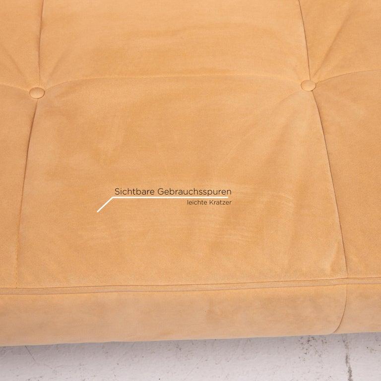 Ligne Roset Smala Microfiber Fabric Sofa Bed Beige Three ...