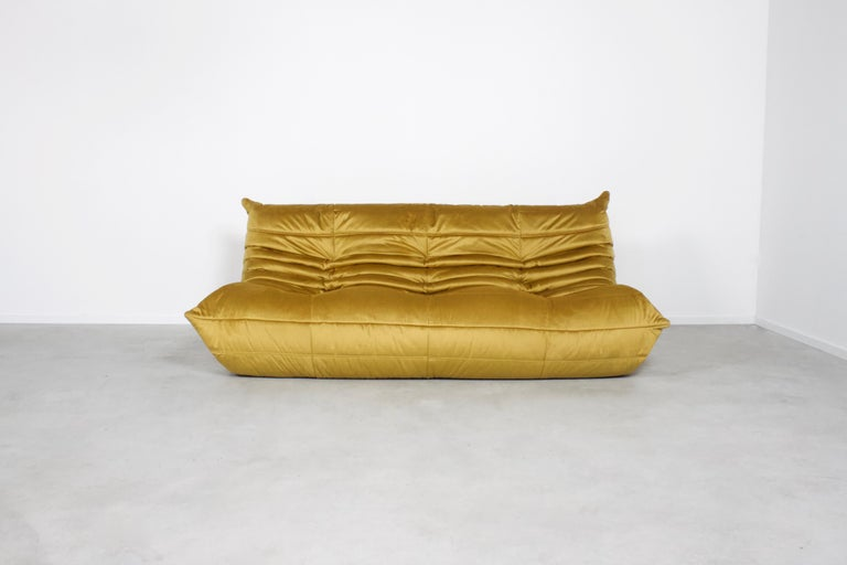 Space Age Ligne Roset Togo 3-Seat Sofa by Michel Ducaroy For Sale