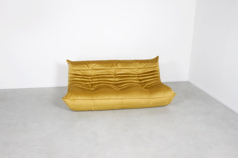 French Ligne Roset Togo 3-Seat Sofa by Michel Ducaroy For Sale