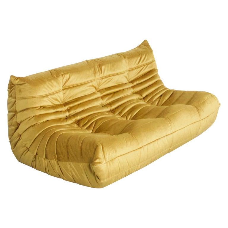 Ligne Roset Togo 3-Seat Sofa by Michel Ducaroy For Sale