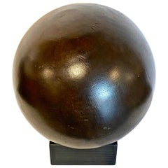 Lignum Vitae Bowling Ball on Stand