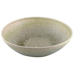 Liisa Hallamaa Larsen for Arabia, Large Unique Bowl in Glazed Stoneware