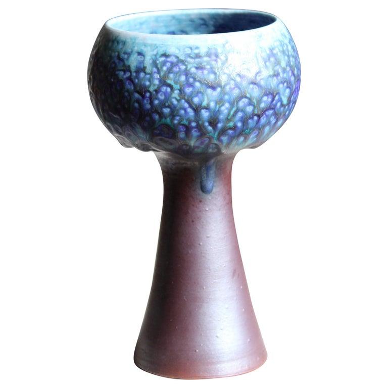 Liisa Hallamaa, Studio Vas, Glazed Stoneware, Arabia, Finland, 1950s For Sale