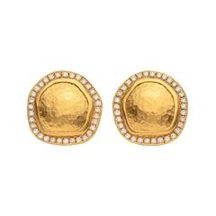 Lika Behar Diamond and 22 Karat Gold Earrings