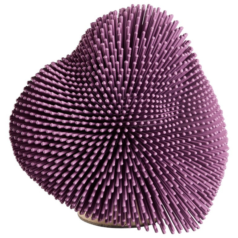 Lilac 'Sea Anemone' Sculpture by Pia Maria Raeder For Sale