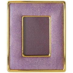 Lilac Shagreen Gold-Plated Photo Frame by Fabio Ltd