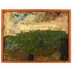 "Lili Ege '1913-2004', Danish Painter, ""Gurostølen"" Modernist Landscape"