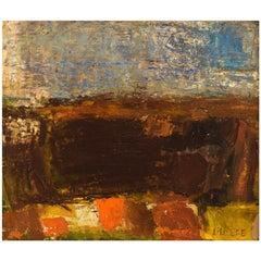 Lili Ege (1913-2004), Danish Painter, Oil on Board, Modernist Landscape, 1964