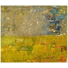 Lili Ege (1913-2004), Danish Painter, Oil on Board, Modernist Landscape, 1976