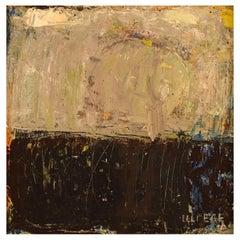 "Lili Ege, Danish Painter, Oil on Board, ""Winter day"""