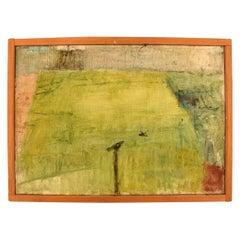 Lili Ege Danish Painter, Oil on Canvas. Autumn, Modernist Landscape