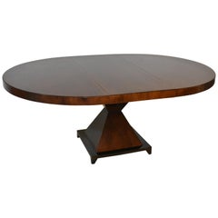 "Lilian August for Hickory White Art Deco Style Dining Room Table ""Gramercy"""