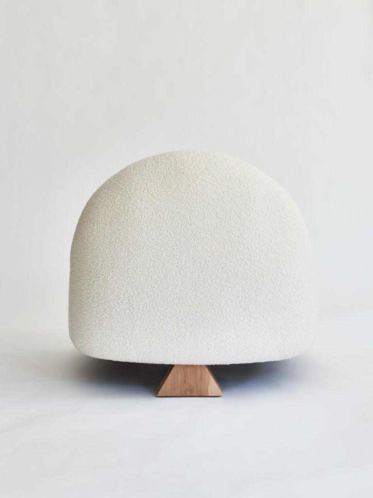 Modern Lilian Club Chair, Ivory Bouclé Lounge Chair by Christian Siriano For Sale