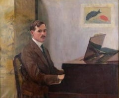 """Gentleman at a Piano,"" Lilla Cabot Perry, Edward Ballantine Boston Musician"