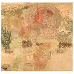 Lillebet Foss, Norwegian Artist, Modernist Landscape, Oil on Canvas
